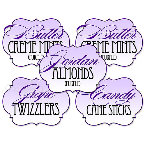 Dessert Table / Candy Buffet Labels (Any Color)