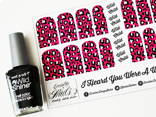 Hot Pink Leopard - Nail Decals