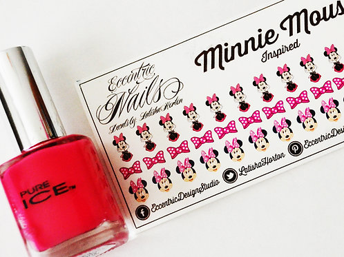 Minnie Mouse - Nail Decals