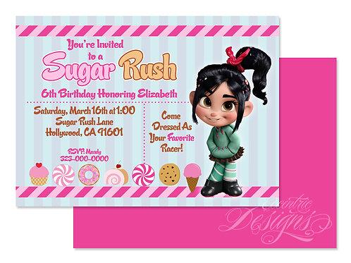 Sugar Rush - Digital Birthday Invitation