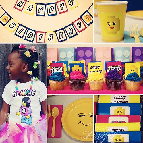 Girl Lego Digital Party In A Box