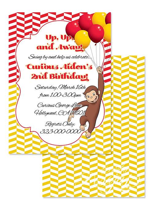 Curious George - Digital Birthday Invitation