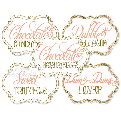 Dessert Table / Candy Buffet Labels