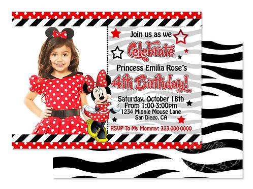 Minnie Mouse - Digital Birthday Invitation