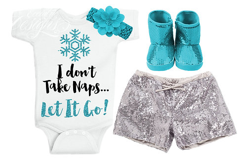 Let It Go - Baby Iron-on Tshirt Transfer