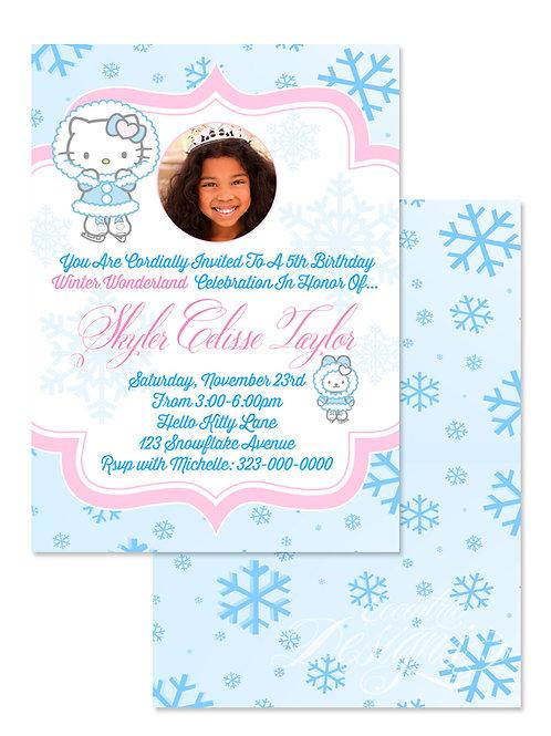 HK Winter Wonderland - Digital Birthday Invitation