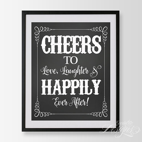 16X20 - Happily Ever After Wedding Sign