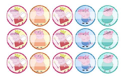 Peppa Pig (Fairy) - Bottle Cap Designs