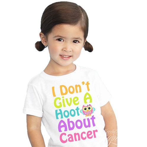I Don't Give A Hoot Breast Cancer Iron-on Transfer