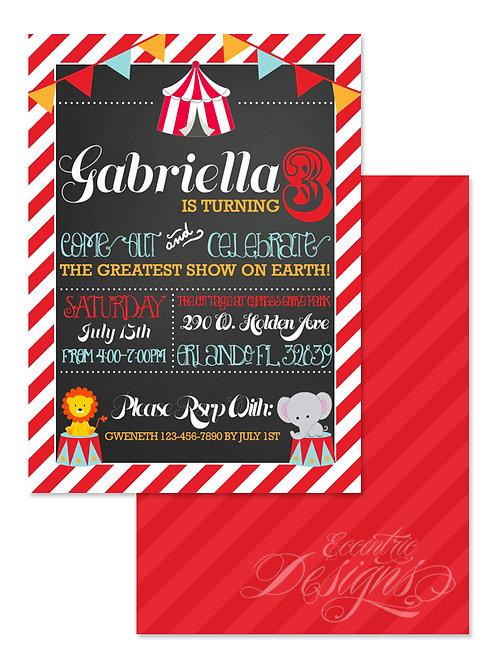 Carnival - Digital Birthday Invitation