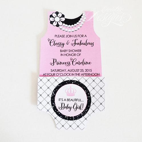 Coco Chanel - Baby Shower Invitation