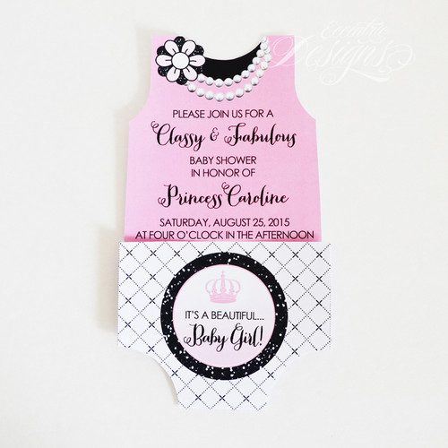 Eccentric designs custom stationery personalized gift items coco chanel baby shower invitation filmwisefo