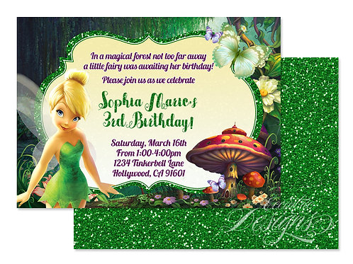 Tinkerbell - Digital Birthday Invitation
