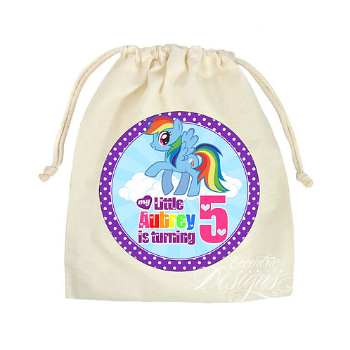 """My Little Pony - 8"""" Favor or Treat Bag Stickers"""