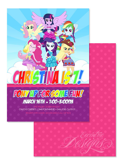 Equestria Girls - Digital Birthday Invitation