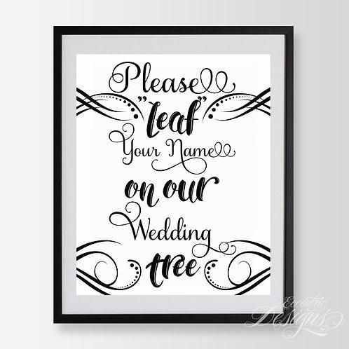 8X10 - Wedding Tree Sign