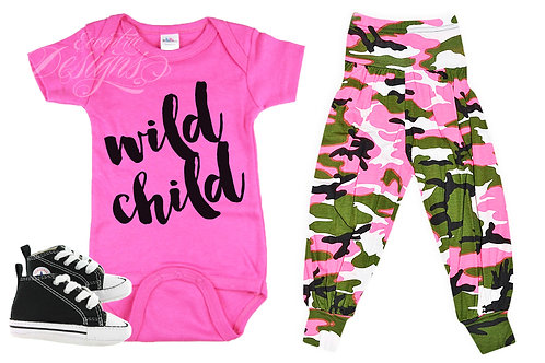 Wild Child - Baby Iron-on Tshirt Transfer