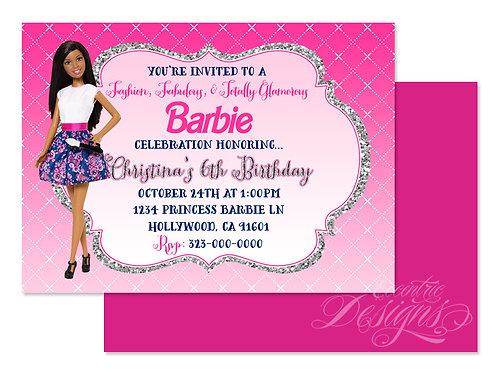 Barbie Fashionista - Digital Birthday Invitation