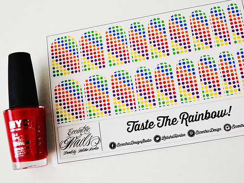 Rainbow Polka Dot - Nail Decals