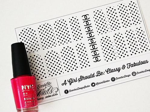 Coco Chanel Monogram and Polka Dots - Nail Decals