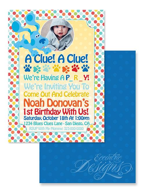 Blues Clues - Digital Birthday Invitation