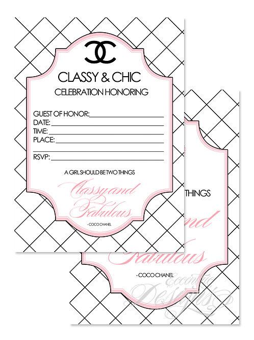 Coco Chanel - Digital Fill-in Invitation