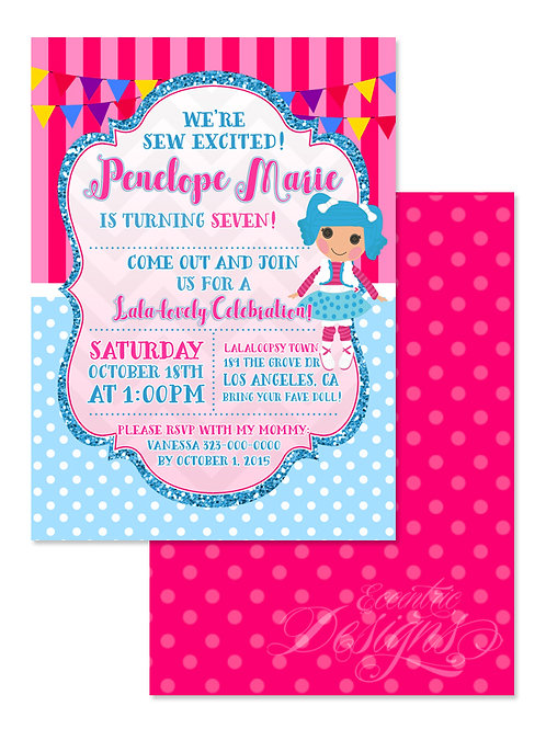 Lalaloopsy - Digital Birthday Invitation