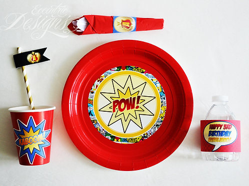 Superhero - Plate Stickers