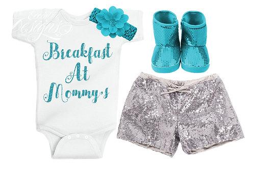 Breakfast at Mom's - Baby Iron-on Tshirt Transfer