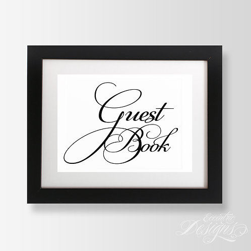 5X7 - Guest Book Wedding Sign