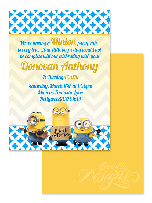 Minions - Digital Birthday Invitation