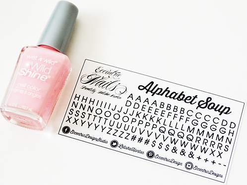 Monogram (Small Letters/Alphabets) - Nail Decals