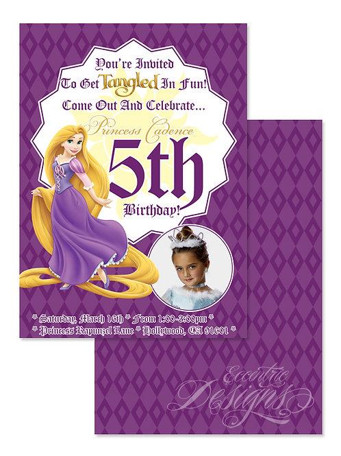 Tangled/Rapunzel - Digital Birthday Invitation