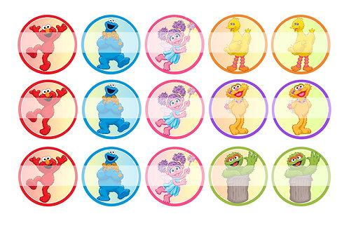 Sesame Street - Bottle Cap Designs