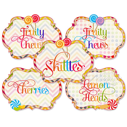 Dessert Table / Candy Buffet Labels (Candyland)