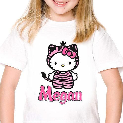 HK Zebra Animal Print - Iron-on Tshirt Transfer