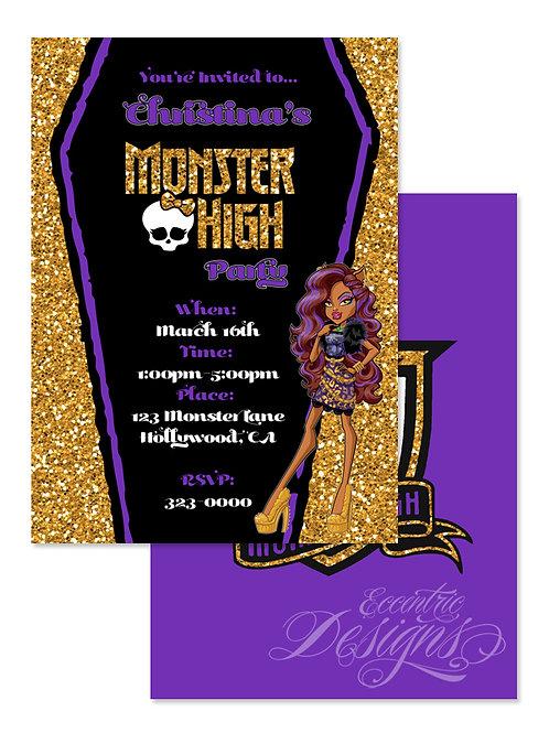 Monster High - Digital Birthday Invitation