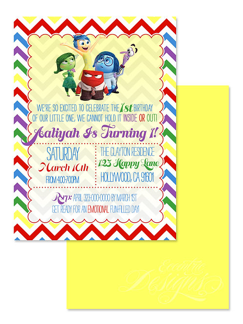 Inside Out - Digital Birthday Invitation