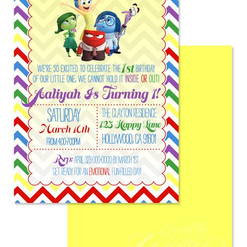 Eccentric Designs Children Birthday Invitations - Birthday invitations inside out