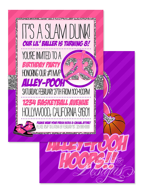 Air Jordan/Jumpman - Birthday Party Invitation