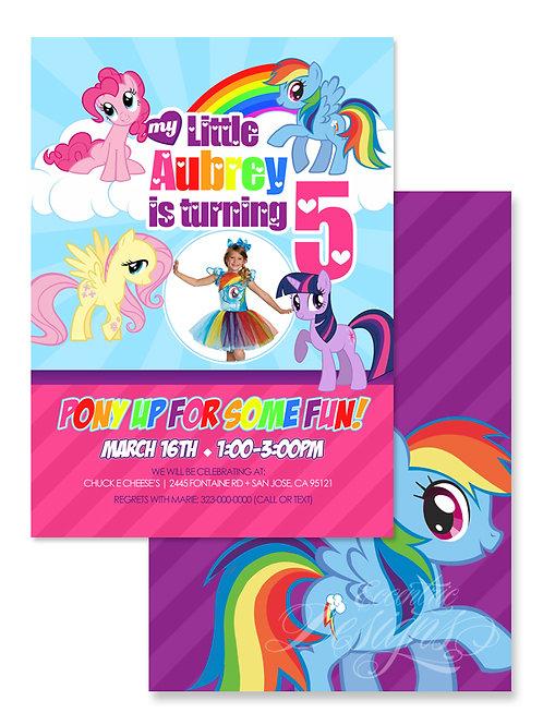 My Little Pony - Digital Birthday Invitation