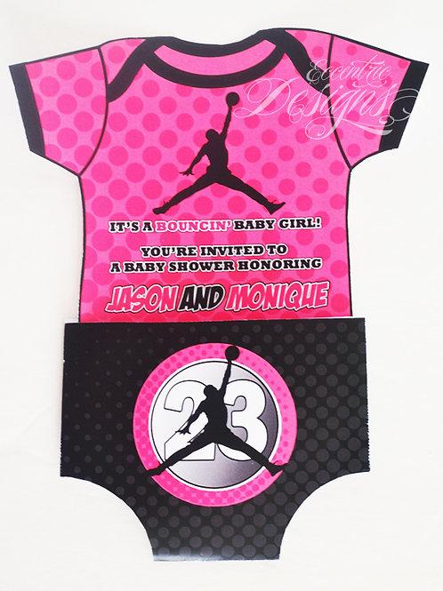 Air Jordan/Jumpman - Baby Shower Invitation