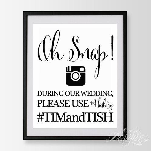 16X20 - Social Media (Instagram) Wedding Sign