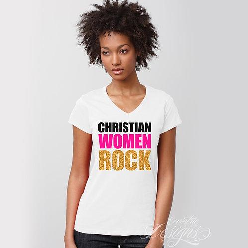 Christian Women Rock - T-shirt Design