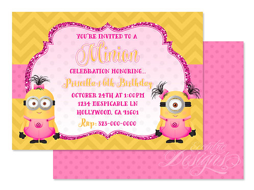 Minion - Digital Birthday Invitation