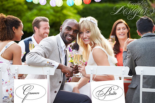 Bride / Groom - Photography Prop / Signs