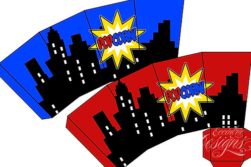 Superhero - Favor Snack Box