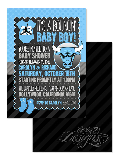 Air Jordan/Jumpman - Digital Babyshower Invitation