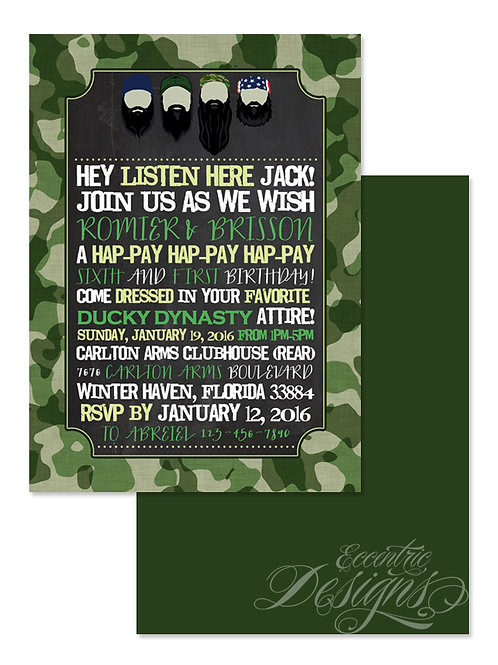 Duck Dynasty - Digital Birthday Invitation