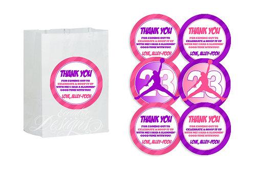 Air Jordan/Jumpman - Favor Bag Stickers